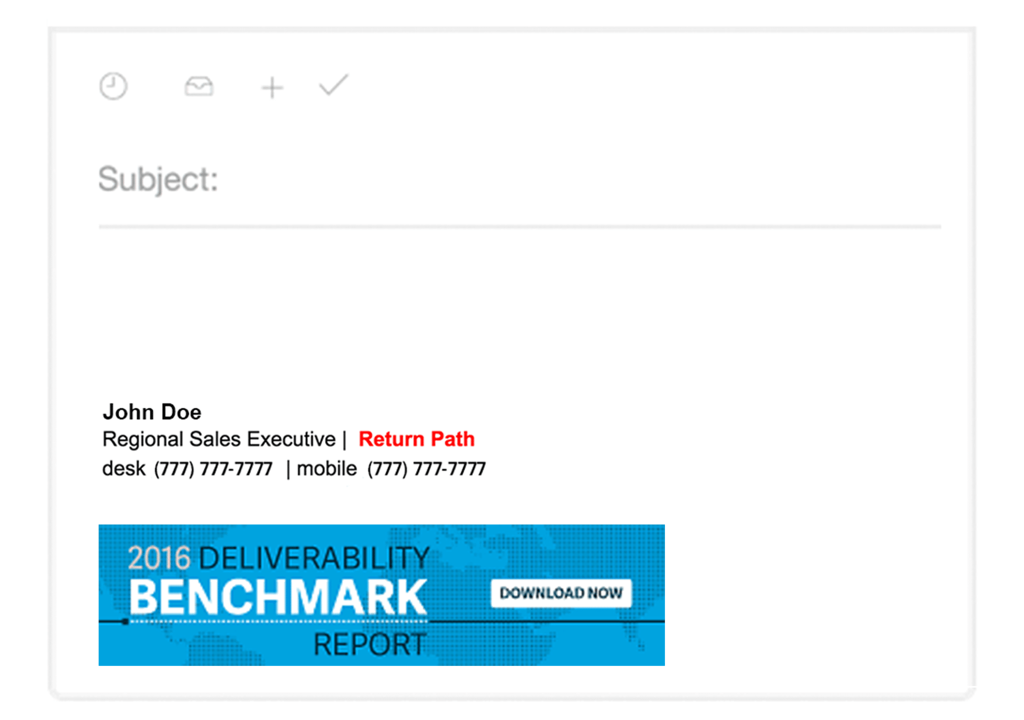 Office email signature example 2